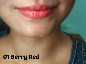 Lakme Enrich Lip Crayon Berry Red Review & Swatches