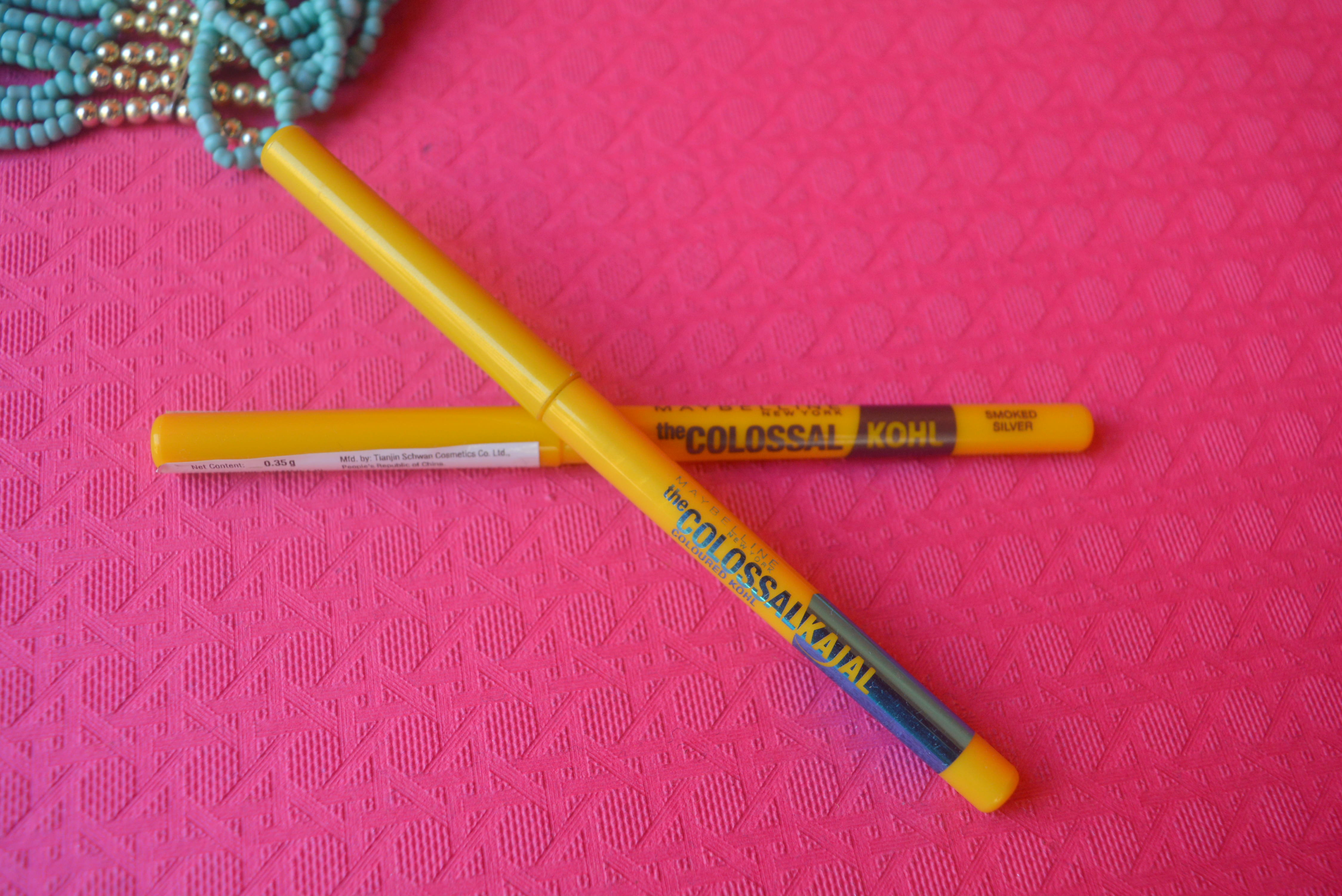 Maybelline Colossal Kohl Kajal - Turquoise & Smoked Silver   Review