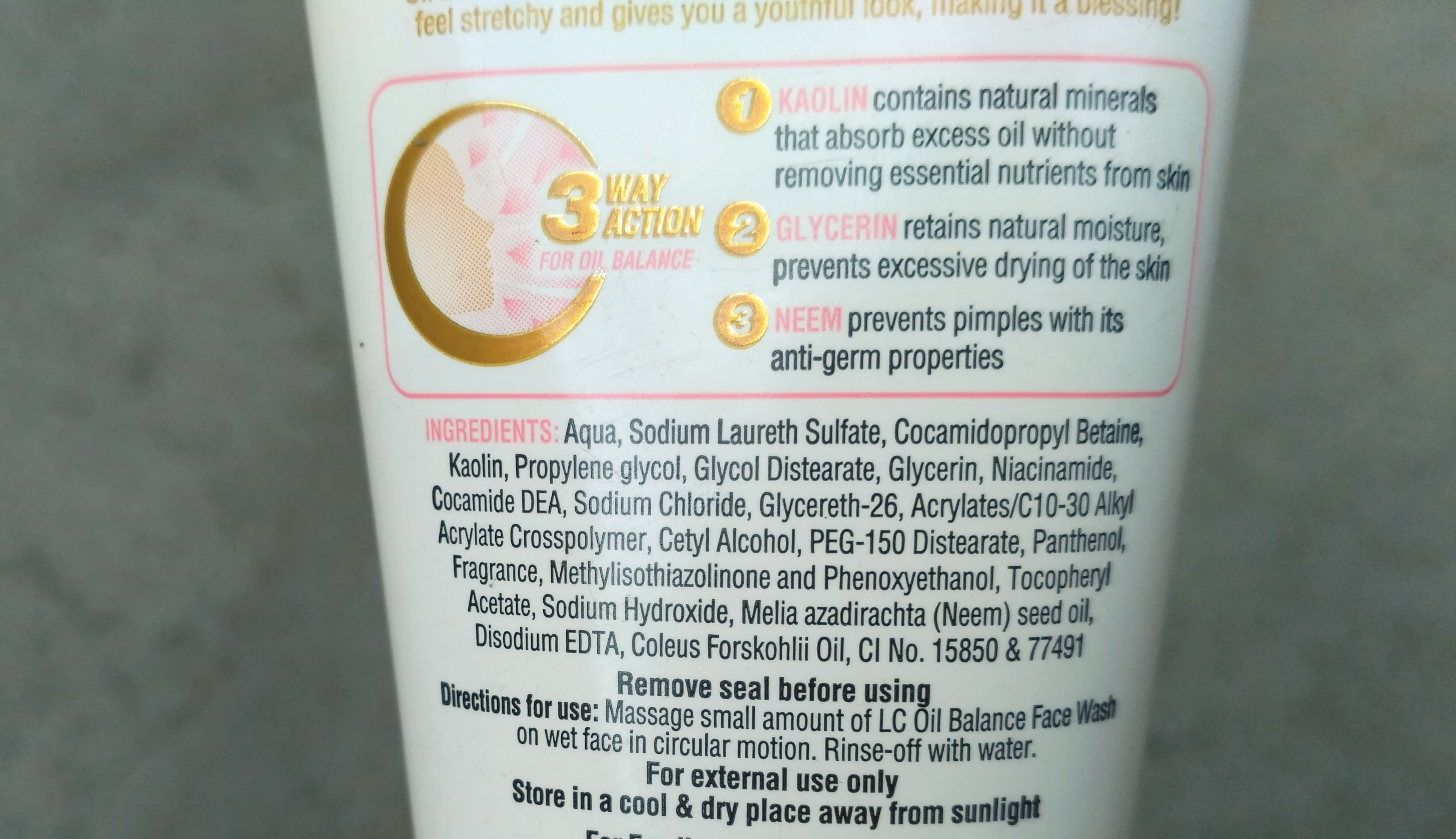 Lacto Calamine Oil Balance Face Wash Review