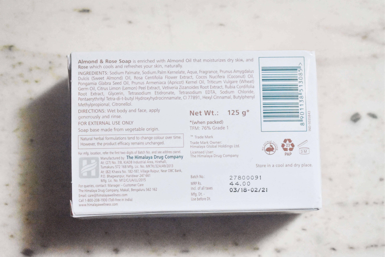 Himalaya Herbals Moisturizing Almond & Rose Soap Review