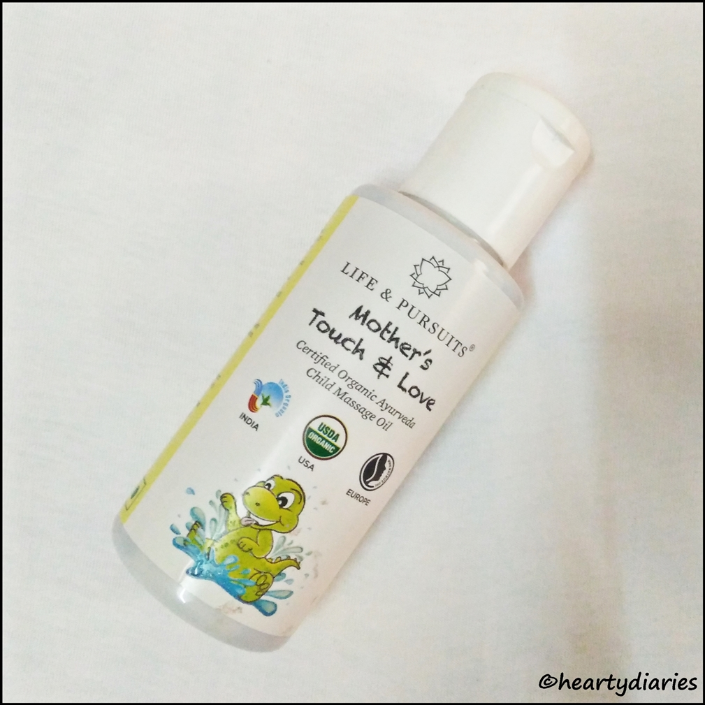 Life & Pursuits Mother's Touch & Love Organic Child Massage Oil Review