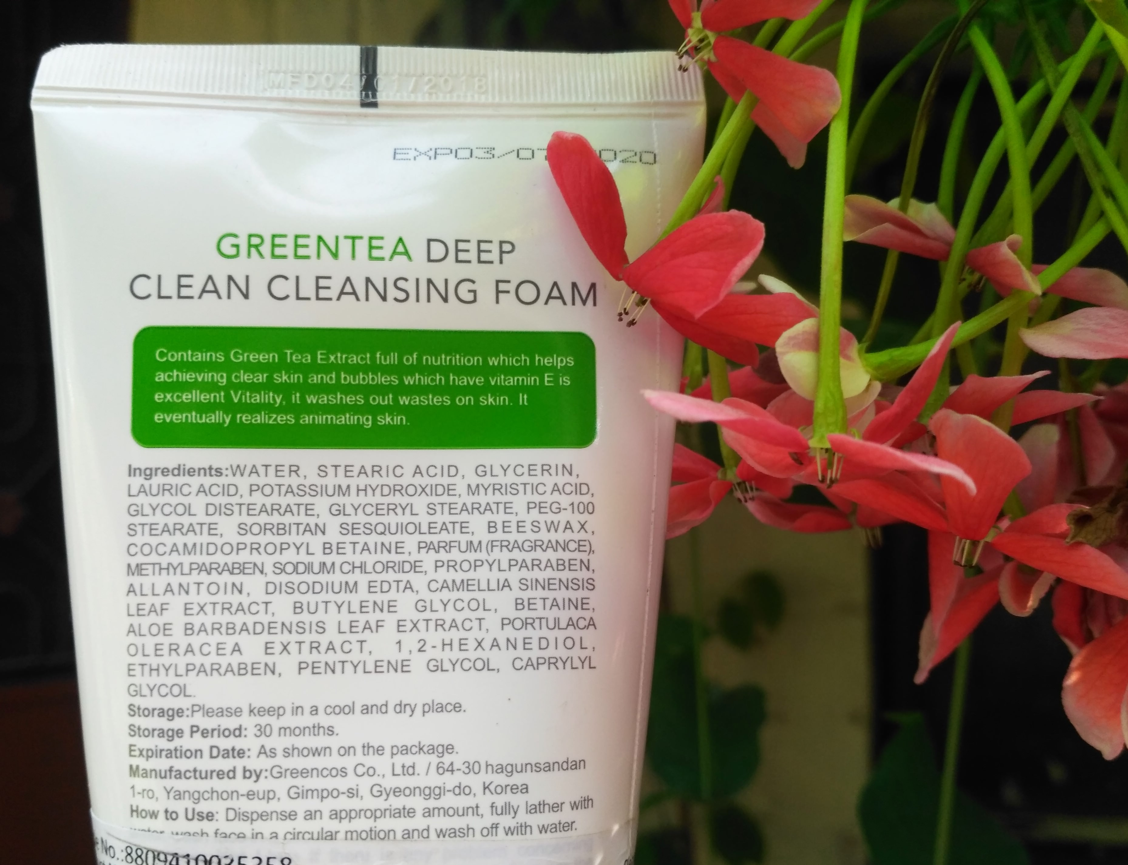 Miniso Green Tea Deep Cleansing Foam Face Wash Review