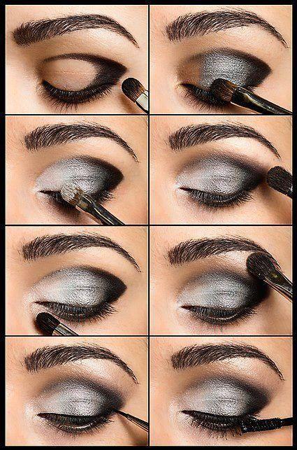 silver eyeshadow look