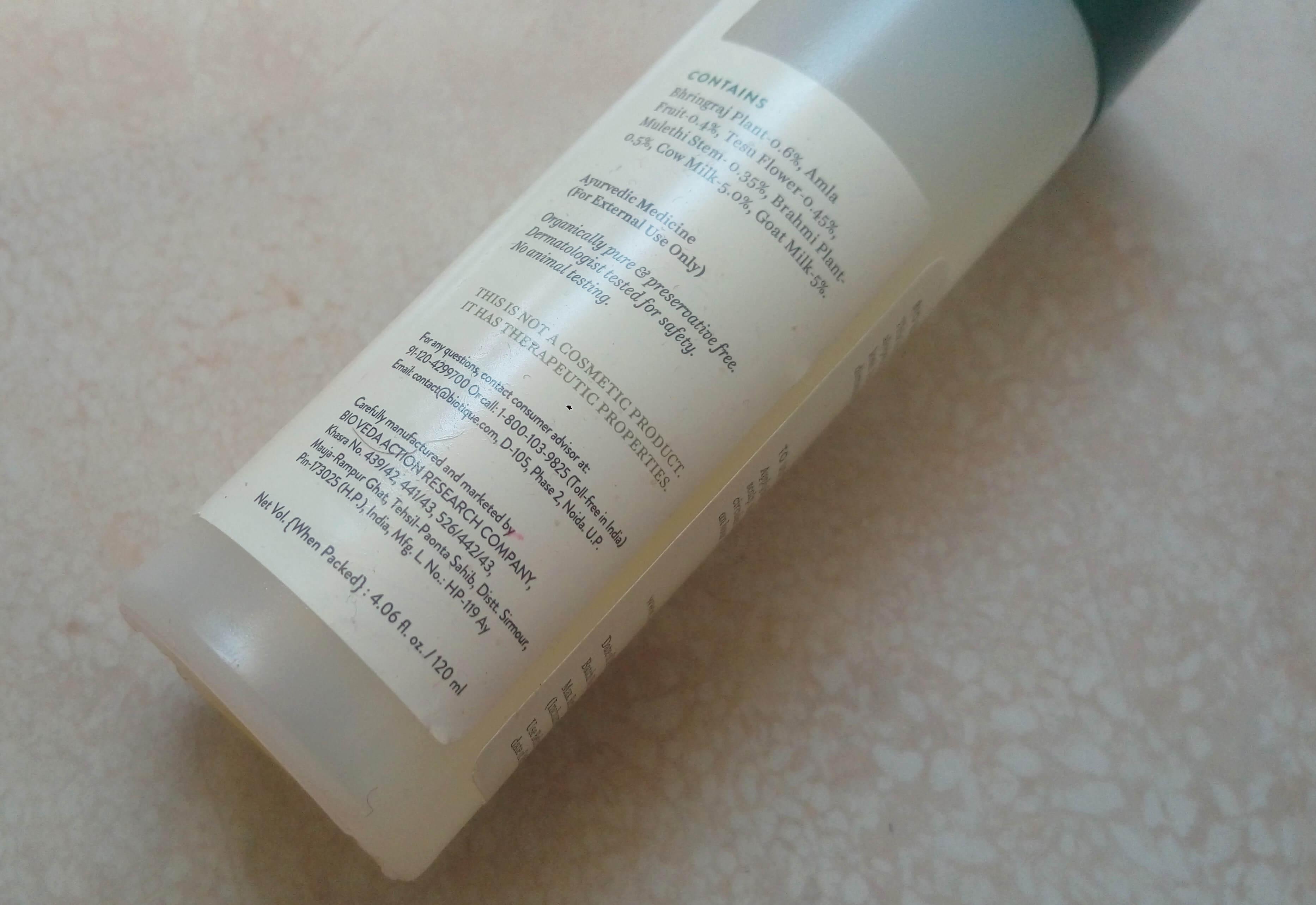 Biotique Bio Bhringraj Therapeutic Hair OilReview