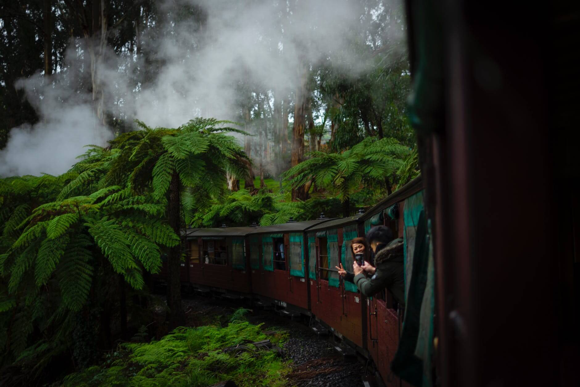 train vacation with husband