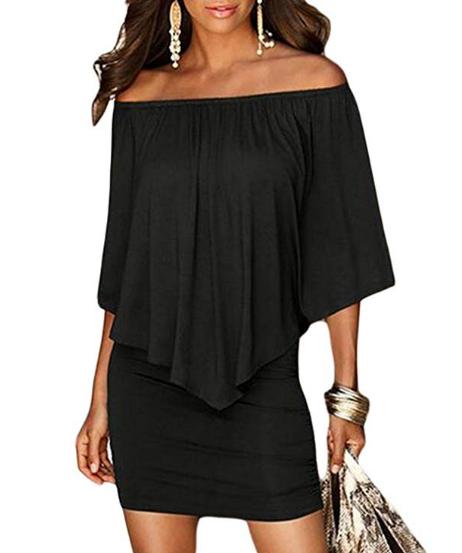 black dress for graduation guest outfit