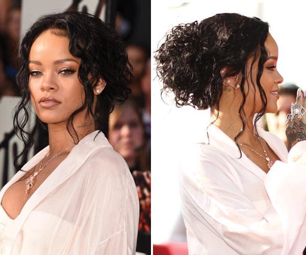 hairstyles for high forehead rihanna 1