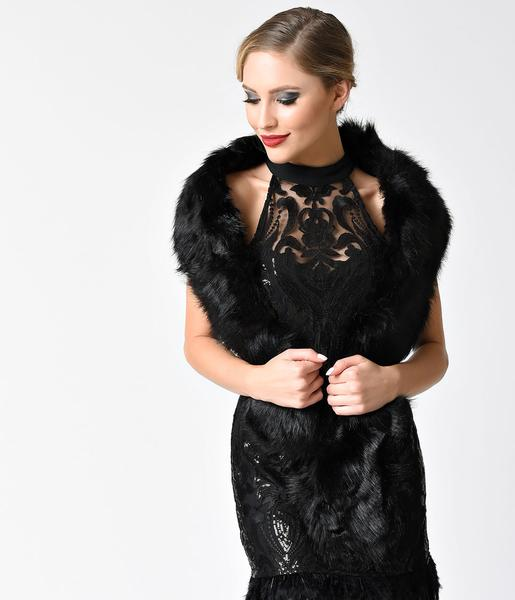 faux fur with lbd