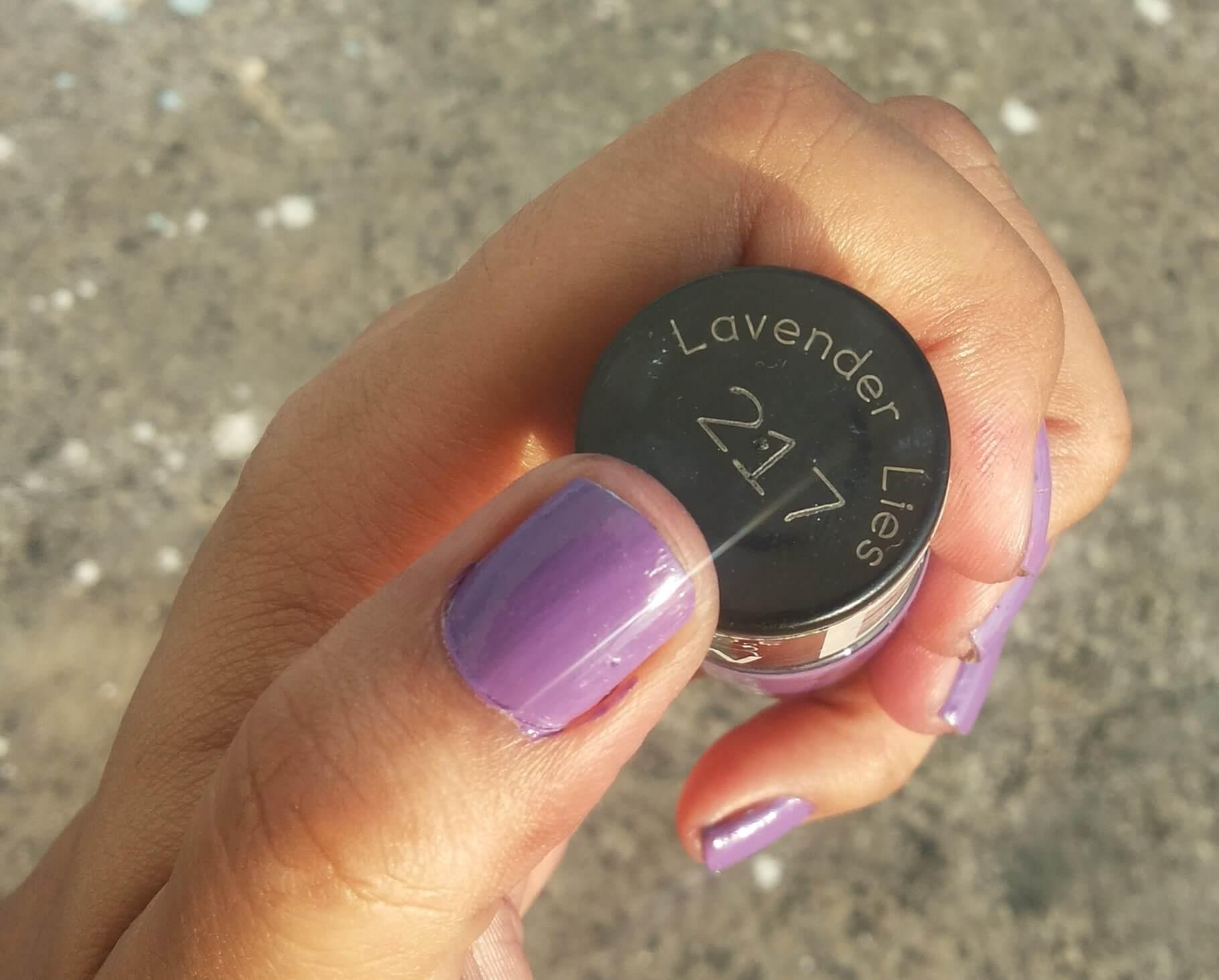 maybelline color show nail paint lavender lies 1