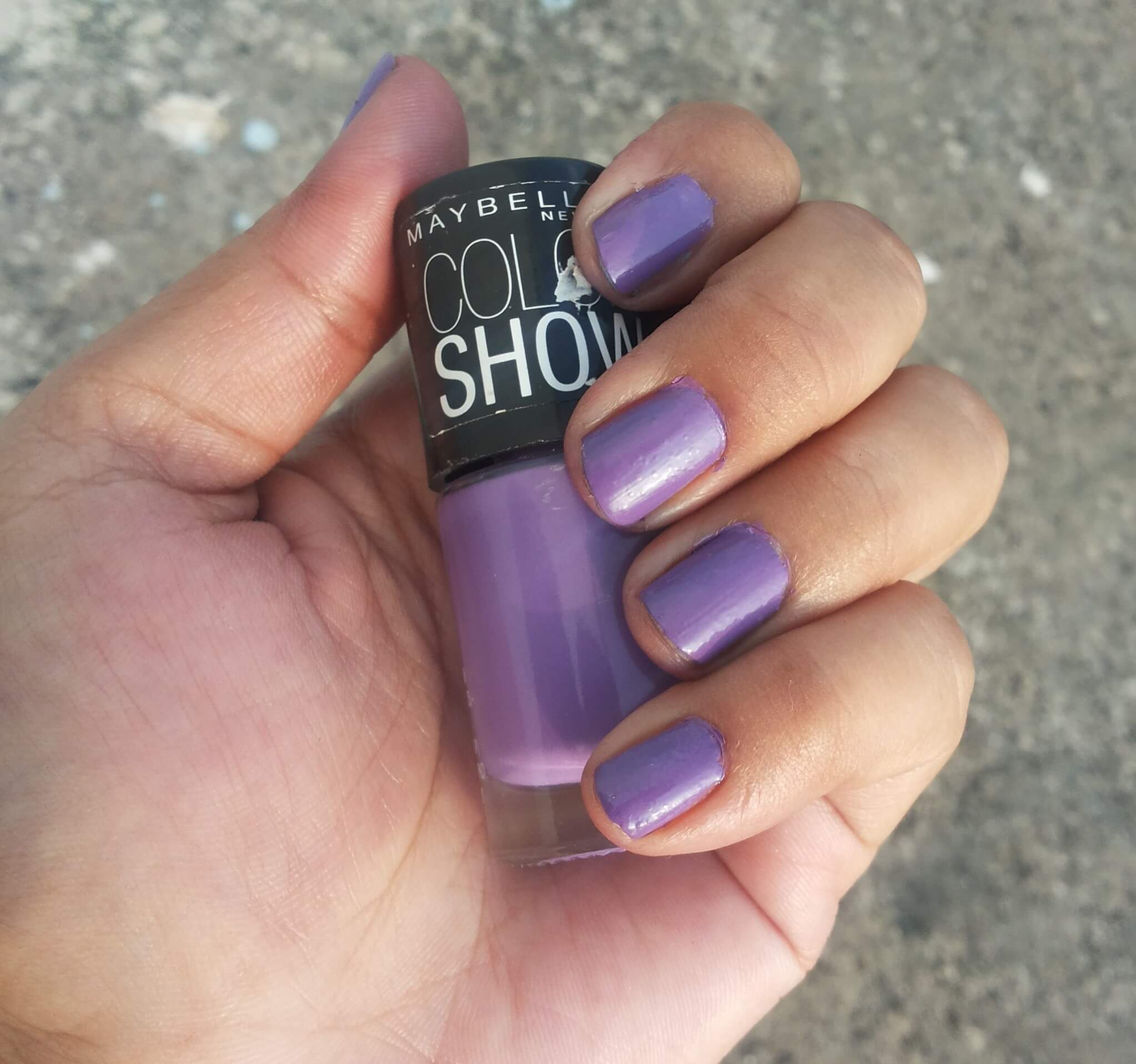 Maybelline Color Show Nail Polish Nude Skin Lavender Lies Red Carpet