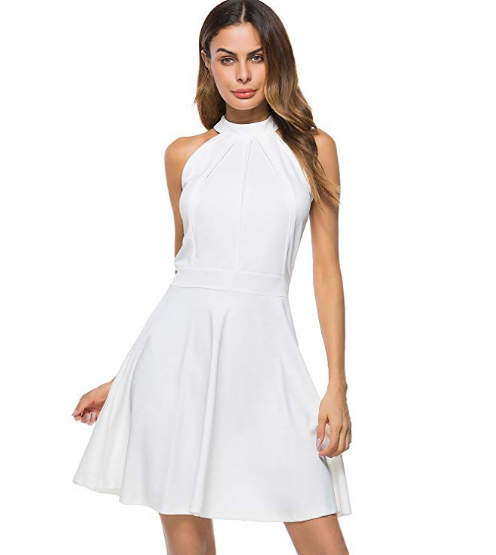 white dress for graduation guest outfit