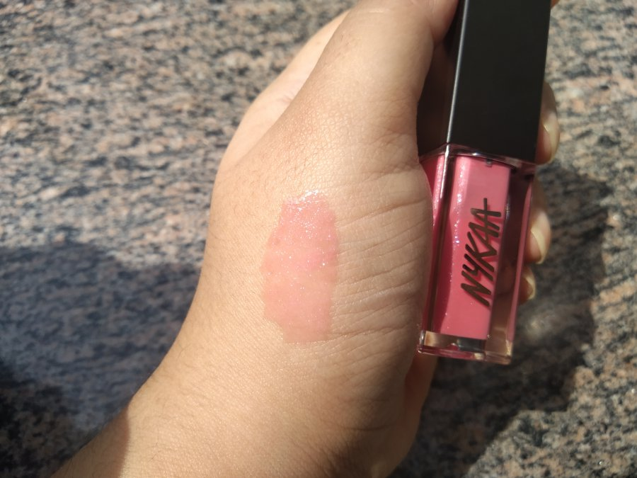 Nykaa Gloss It Up High Shine Lip Gloss Review Sweet Angel
