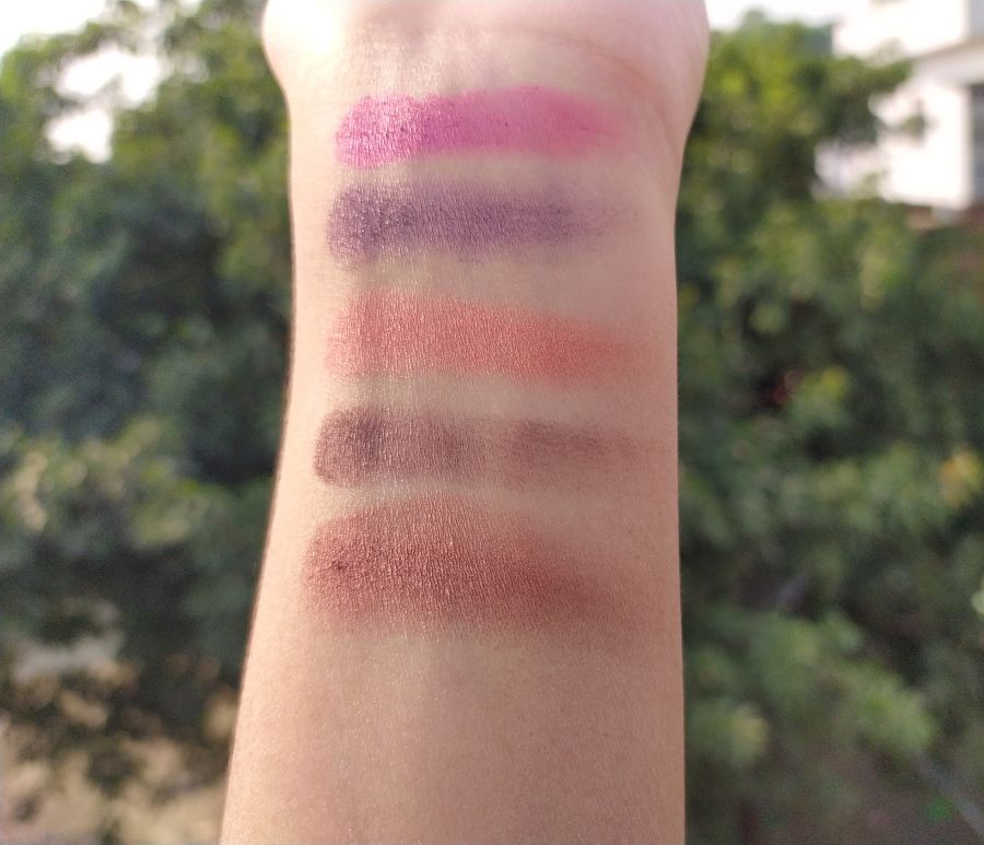 Makeup Revolution Ultra Eyeshadow Palette Flawless 4 swatches