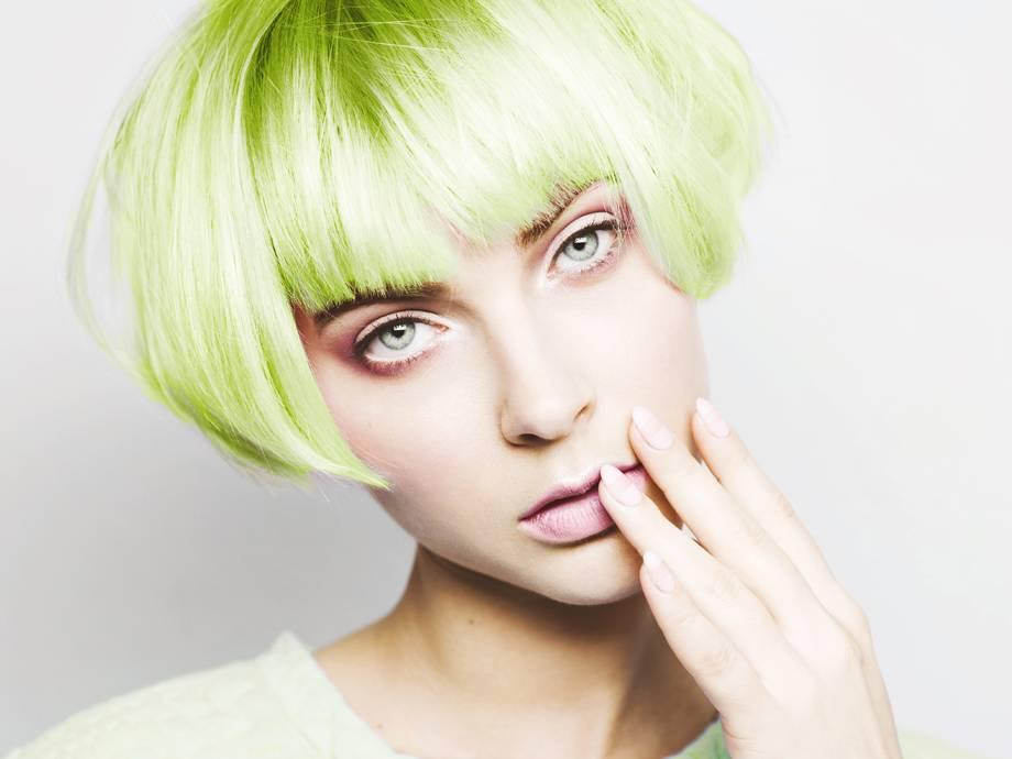 unnatural hair colors