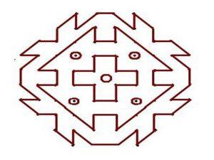 Easy Rangoli Designs With Dots