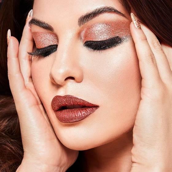 glitter makeup look