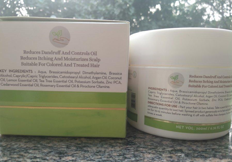 MamaEarth Tea Tree Hair Mask Review