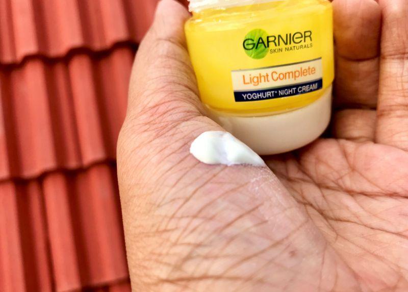 Garnier Light Complete Yoghurt Night Cream Review