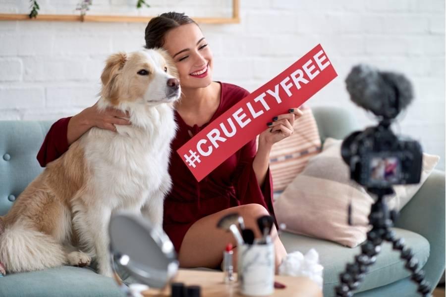cruelty- free beauty influencer