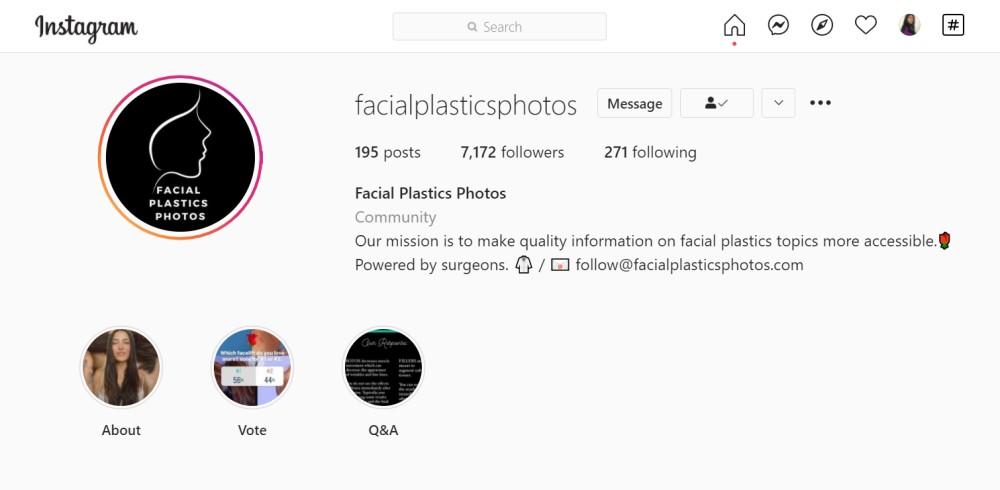 @FacialPlasticsPhotos on Instagram